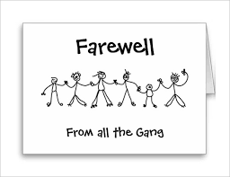 Free Farewell Card Template