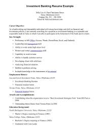 Objective For Banking Resume Free Resume Example And Writing
