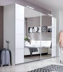 full image for white mirrored wardrobe set white frame mirror sliding wardrobe doors slumberhaus davos german