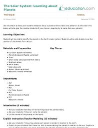 3rd Grade Lesson Plans Education Com