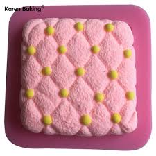 Cake Design Shopping Online New Arrival Square Type Pillow Shape Silicone 3d Cake Mold