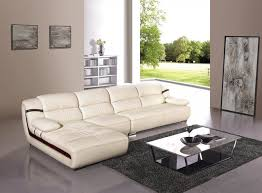 living room with cream leather sofa