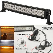 24 Inch Light Bar With Wiring Harness Us 83 16 16 Off Curved Straight 120w Amber White 22 Inch Led Light Bar 24 Modes Remote Control Flashing Barra Led Work Driving Lamp 4x4 Truck In