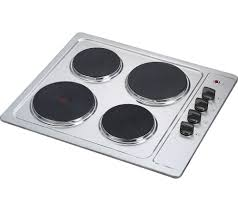 essentials csphobx15 electric solid plate hob stainless steel
