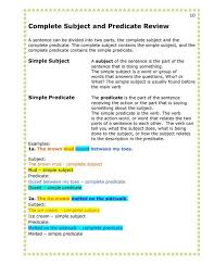 Subject-predicate-worksheet & Subject-Predicate Worksheet Subject ...