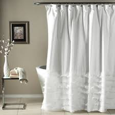 white shower curtains. Avery Diaphanous Tier Shower Curtain In White White Shower Curtains T