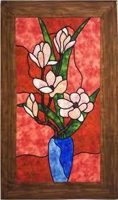 Magnolia Quilt Pattern PES-101 (intermediate, stained glass, wall ... & Magnolia Quilt Pattern PES-101 Adamdwight.com