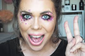 glitter star makeup look