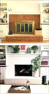 reface brick fireplace refacing brick fireplace e and after painted with wood reface plaster reface brick fireplace with marble tile