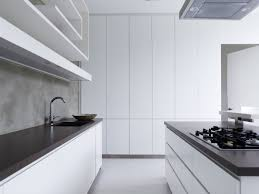 Modern Kitchen White Cabinets Kitchen Foxy Contemporary White Kitchen With Metallic Hood And