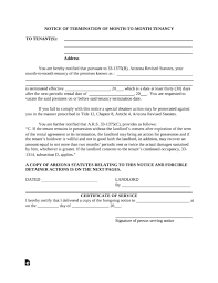 arizona eviction notice forms process