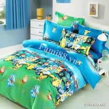Chăn ga gối Pikachu Pokemon - Bộ ga trải giường hoạt hình Pokemon Pikachu