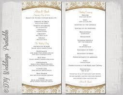 Wedding Ceremony Brochure Wedding Service Template Program Yelom Myphonecompany Co