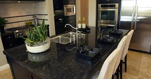 black granite countertops are the little dress of kitchen pertaining to titanium countertop designs 16