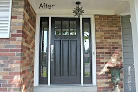 black front door with sidelightsNifty Home Depot Front Doors With Sidelights About remodel Amazing