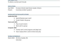 Student Summer Job Resume April Onthemarch Co Regarding Sample