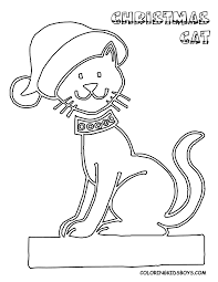 Christmas Cat Coloring Pages Getcoloringpagescom