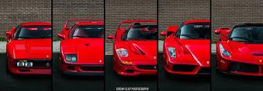 288gto F40 F50 Enzo Laferrari 5 Generations Of Ferrari Supercars