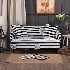 black couch slipcovers. Unique Couch Black And White Stripes CouchCorner Sofa Slipcovers For Living Room  Universal Stretch Sectional On Couch X