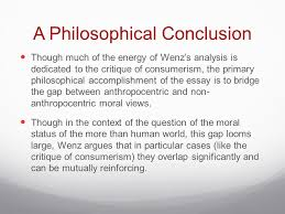 philosophy the moral significance of the more than human world  15 a philosophical