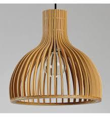 Stijlvolle Scandinavische Hanglamp Met Houten Latten Erika