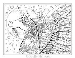 Unicorn Pegasus Digitale Stempel Afdrukbare Manen Etsy