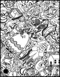 Free Coloring Page Coloring Doodle Art Doodling 4 Adult Advanced Coloring Books L