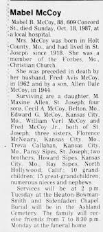 Obituary for Mabel B. McCoy (Aged 88) - Newspapers.com