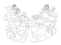 Princesses Colouring Pages Printable Disney Belle All Coloring