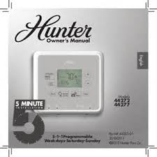 hunter programmable thermostat wiring diagram images he300 wiring hunter fan thermostat manuals manualsonline