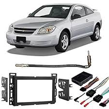 amazon com fits chevy cobalt 2007 2010 double din stereo harness chevy cobalt stereo install kit at 2007 Chevy Cobalt Wiring Harness Stereo