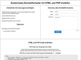 Einfaches Kontaktformular mit HTML und PHP   devno.com