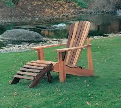 luxury teak adirondack chair with ottoman for outdoor furniture ideas