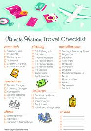 Weekend Vacation Checklist Ultimate Vietnam Travel What To