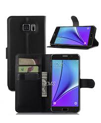 samsung galaxy note 5 wallet leather case cover black