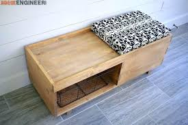diy storage bench seat diy garden