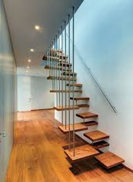Dazzling Wooden Foot Step Floating Stairs With Mounted Handle Stair As  Custom Interior Staircase Design