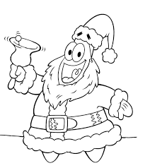Spongebob And Patrick Christmas Coloring Pages Happy Holidays
