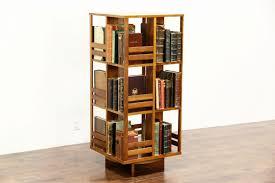 Midcentury Modern 1960's Vintage Teak Spinning or Revolving Bookcase, ...