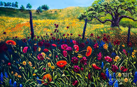 landscape painting texas hill country by patricia reed