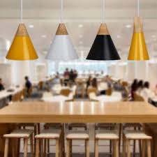 Image Is Loading E27 Wood Pendant Ceiling Hanging Lamp Chandelier Kitchen