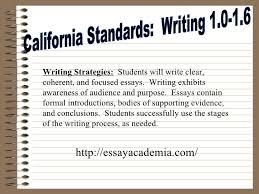 the five paragraph essay the five paragraph essay essayacademia com 2 california standards writing