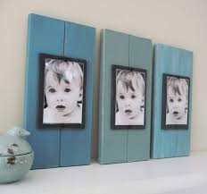 painted wood picture frames. Art Picture Display: Cheap Frames Mounted On Painted Wooden Planks Diy-crafty-things Wood