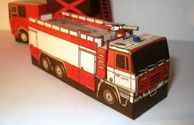 Tatra 815 CAS 32 Fire Engine Free Vehicle Paper Model Download