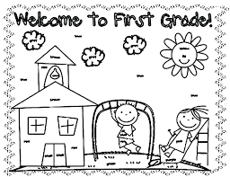 back to school coloring welcome back coloring pages back to school coloring pages for first grade
