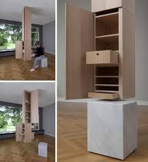 Column Secret Ceiling-Hung Storage.