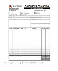 samples of purchase order form sample requisition forms