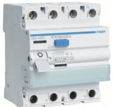 hager cda440t 4 pole 40 amp rcd 4 5ka 30ma hager electrical hager fuse box reset at Hager Fuse Box Change Fuse