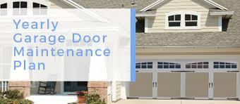garage door maintenance plan