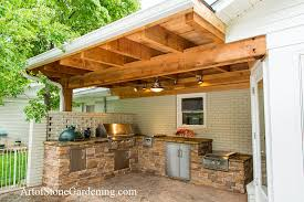 this art of stone project was for a client in dawsonville ga who wanted a complete outdoor kitchen it has all of the appliances and accessories a